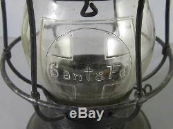Santa Fe Railroad Lantern with Clear Cross Logo Globe