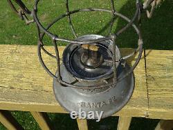 Santa Fe Railway AT&SF Adlake Clear Cast Globe Bell Bottom Railroad Lantern