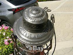 Santa Fe Route 1897 Adams & Westlake Railroad Lantern Matching Cast Globe Nice