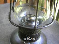 Super PRR bell bottom (embossed globe & lantern) railroad lantern