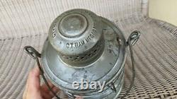Tennessee Central C. T. Ham Bell Bottom Railroad Lantern Clear Etched Globe