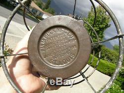 Texas & Pacific Handlan Buck Tall Blue Globe Railroad Lantern
