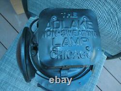 Texas & Pacific Railroad Adlake Switch Lantern w Burner Square Top