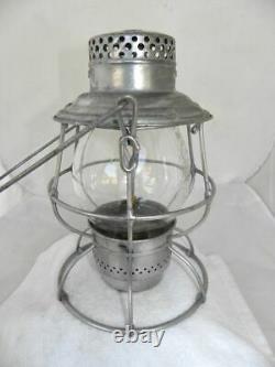 UNION PACIFIC RAILROAD LANTERN Clear Cast Lantern Globe