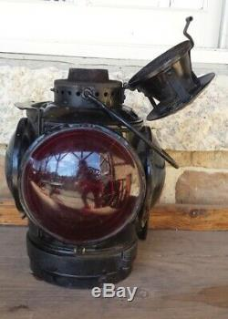Union Pacific Railroad Caboose Lamp Lantern Adlake Non-Sweating Round Top UP RR
