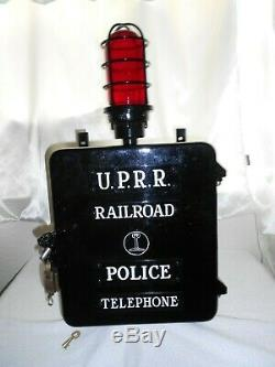 Union Pacific Railroad UPRR Police Call Box Telephone Phone Fire Alarm Gamewell