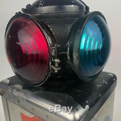 VINTAGE Adlake Railroad 4-Way Reflector Lantern Light Lamp Converted