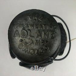 VINTAGE Adlake Railroad 4-Way Reflector Non-Sweating Chicago Lamp Converted