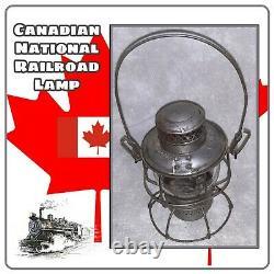VINTAGE CnR Canadian National Railroad lantern Hiram PIPER adlake Kerosene lamp