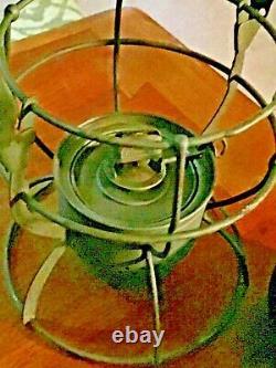 VINTAGE DIETZ N. Y. C. S. NO. 999 RAILROAD LANTERN WithKOPP GREEN GLASS GLOBE