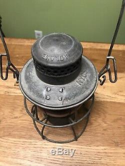 VINTAGE New York Central System Railroad Lantern Red Globe