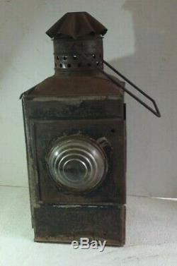 Very Early Boston & Maine Railroad Lantern by Peter Gray Company B & M R R