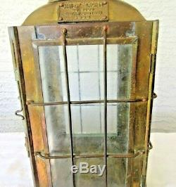 Vintage 1935 Brass Chief Light Railroad Great Britain Lantern Oil Lamp Ship 3509