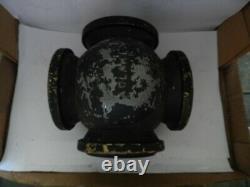 Vintage ADLAK Railroad Train 4 Way Reflective Lantern Switch Marker Indicator
