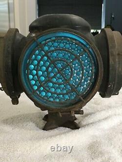 Vintage ADLAKE 4-Way Lantern Railroad Switch Marker Signal Lamp LEFT