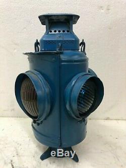 Vintage Adlake Lamp Latern Railroad Train Switch Signal Ccc&l Big Four