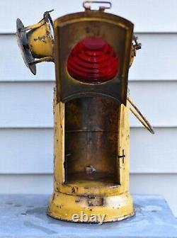 Vintage Adlake Non Sweat Pennsylvania Railroad Caboose Marker Lamp
