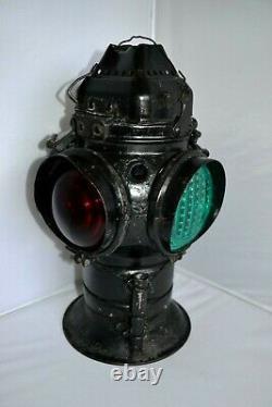 Vintage Adlake Non Sweating 4-Way Union Pacific Railroad Train Lantern