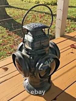 Vintage Adlake Non-Sweating Lamp Chicago, Railroad Signal Lantern, Early 1900s