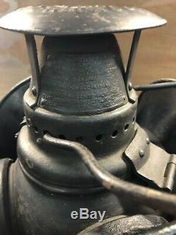 Vintage Adlake Non-Sweating Oil Railroad 4 Way Hanging Signal Switch Lantern