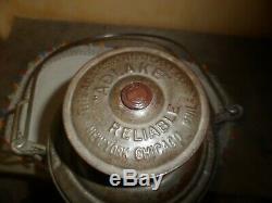 Vintage Adlake Reliable Railroad Lantern D&s. L. R. R