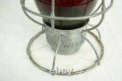 Vintage Adlake Reliable Red Globe Railroad Lantern New York Chicago Phila