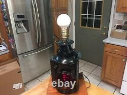Vintage Antique Adlake Chicago B & O Railroad Semaphore Lantern Table Lamp