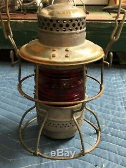 Vintage Antique PRR PENNSYLVANIA RAILROAD Lantern OLD ARMSPEAR 1925 RR Light #3