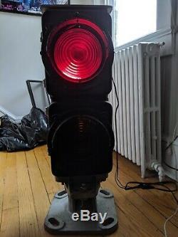 Vintage Antique Railroad Dwarf Signal Red/Amber Train Lights Safetrain Systems