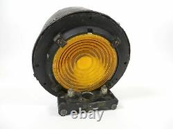 Vintage/Antique Railroad Train Signal Sign Light withAmber Yellow Corning Lens USA