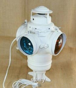 Vintage Armspear Railroad Signal Switch Lantern Lamp Electrified