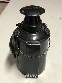 Vintage BLUE Switch Lantern ADLAKE UP UNION PACIFIC Light Lamp OLD RR Railroad