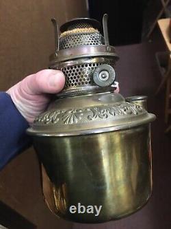 Vintage Brass Railroad Caboose Lantern Lamp Wall Mount Rayo Burner Kerosene