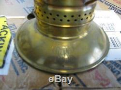 Vintage Brass Tall Bell Bottom Railroad Conductors Lantern Single Wire