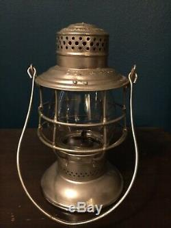 Vintage C. C. C. & ST. L. RY Railroad Lantern & Globe Adam's & Westlake Company