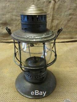Vintage CM&StP Railroad Lantern Embossed Matching Globe Antique Train 10101