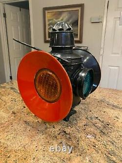 Vintage Chicago Milwaukee St Paul 4 Way Railroad Light, Lantern, Lamp CM & StP