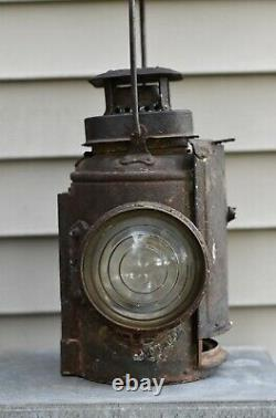 Vintage Chicago Rock Island Pacific Railroad Adlake NonSweating Lamp Signal Lamp