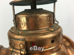 Vintage Copper Plated Armspear Railroad Signal Switch Lantern Marker Lamp
