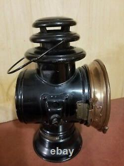 Vintage DIETZ OCTO Driving Buggy Lamp Railroad Train Lantern Burner with Rear Red