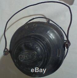 Vintage Dietz New York Central No. 6 Railroad Lantern, Bell Bottom, B & A Globe