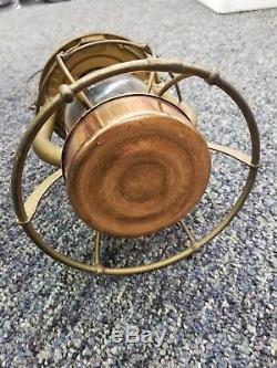 Vintage Dietz Vesta Br&p Railroad Lantern Rare 1900's Buffalo Pitts. Copper