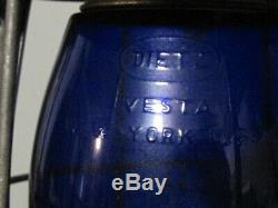 Vintage Dietz Vesta RDG Railroad Lantern Dietz Blue Globe