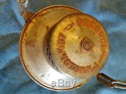 Vintage Dressel Arlington N. J. Pennsylvania Railroad Lantern With Amber Globe