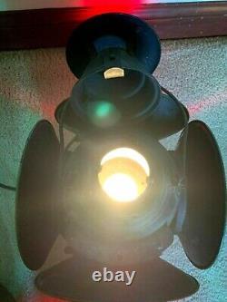 Vintage Dressel Arlington NJ Railroad Switch Signal 4 Way Lamp Working Bulb