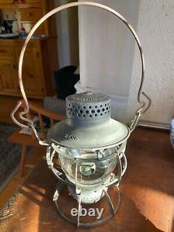 Vintage Dressel Arlington NYCS RR Railroad Train Lantern Oil Kero Lamp Antique