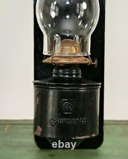Vintage Embossed PRR Pennsylvania Railroad Train Caboose Sconce Lantern Urbana O