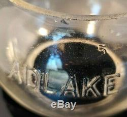Vintage GC&SF Railway Railroad Adlake 3.25 Clear Corning CNX Embossed Globe