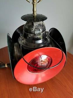 Vintage HANDLAN St. Louis Railroad Switch Lamp Train Lantern Signal 4-way