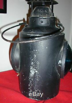 Vintage HLP M CNR Piper Montreal Railroad Caboose Marker Signal Lantern Lamp